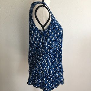 Ann Taylor Tops - Ann Taylor blue black sleeveless top size S